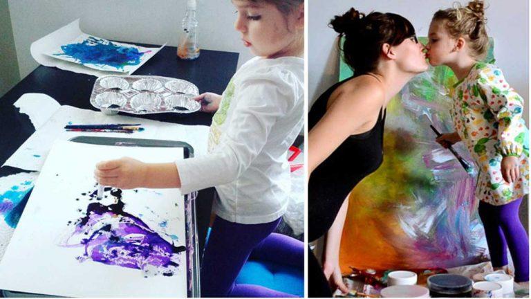 هذه الأم حولت خربشات طفلتها الصغيرة إلى لوحات فنية مذهلة !