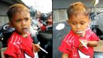 طفل يبلغ من العمر عامين يدخن 40 سيجارة بشكل يومي !!