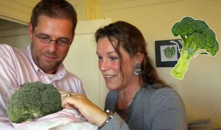 """زوج من النباتيين قاما بتبني بروكلي """"قرنبيط"""" لأنهما لم يريدا طفلًا من لحمٍ ودم!"""